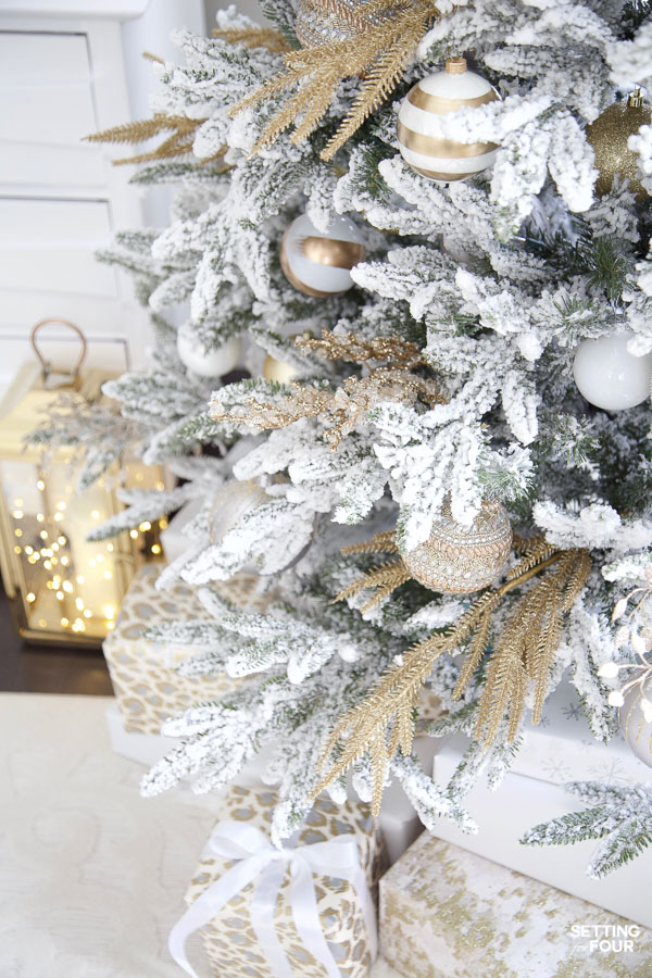 Learn how to decorate this stunning modern Christmas tree with step by step instructions!