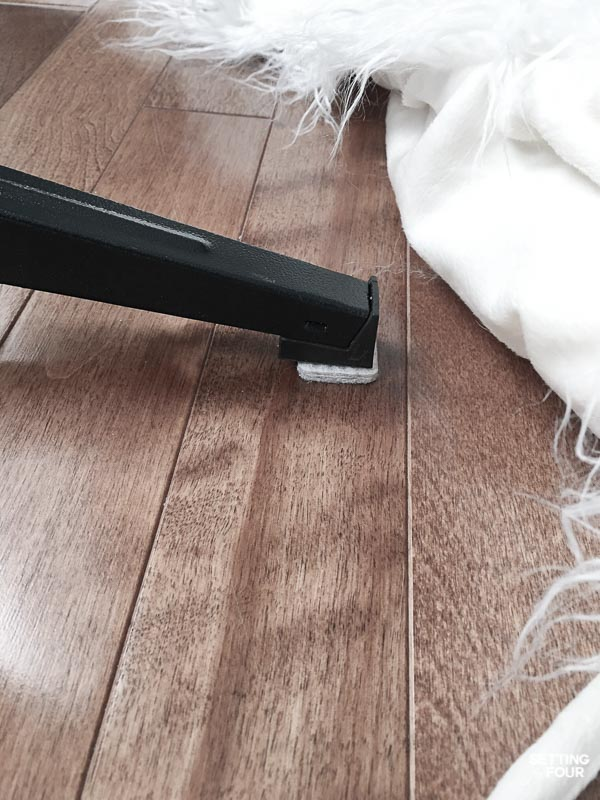 Use felt pads under a Christmas tree stand to protect hardwood floors.