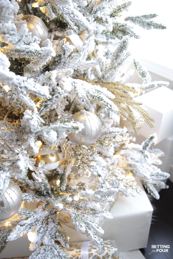 How to decorate an elegant traditional Christmas tree with a designer look!