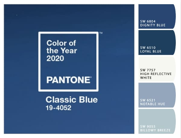 Pantone Color Of The Year 2020 Classic Blue paint color ideas.