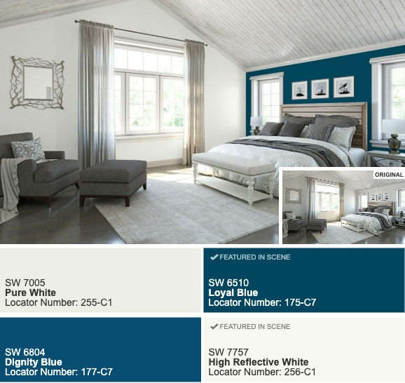 Pantone Color Of The Year 2020 Classic Blue bedroom paint color scheme