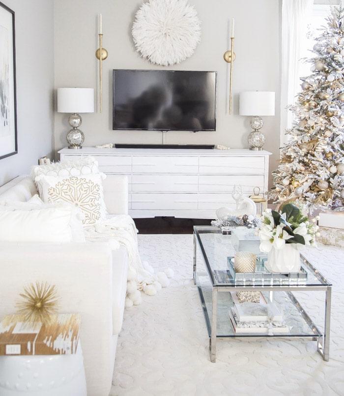Modern Christmas Living Room Decor Ideas.