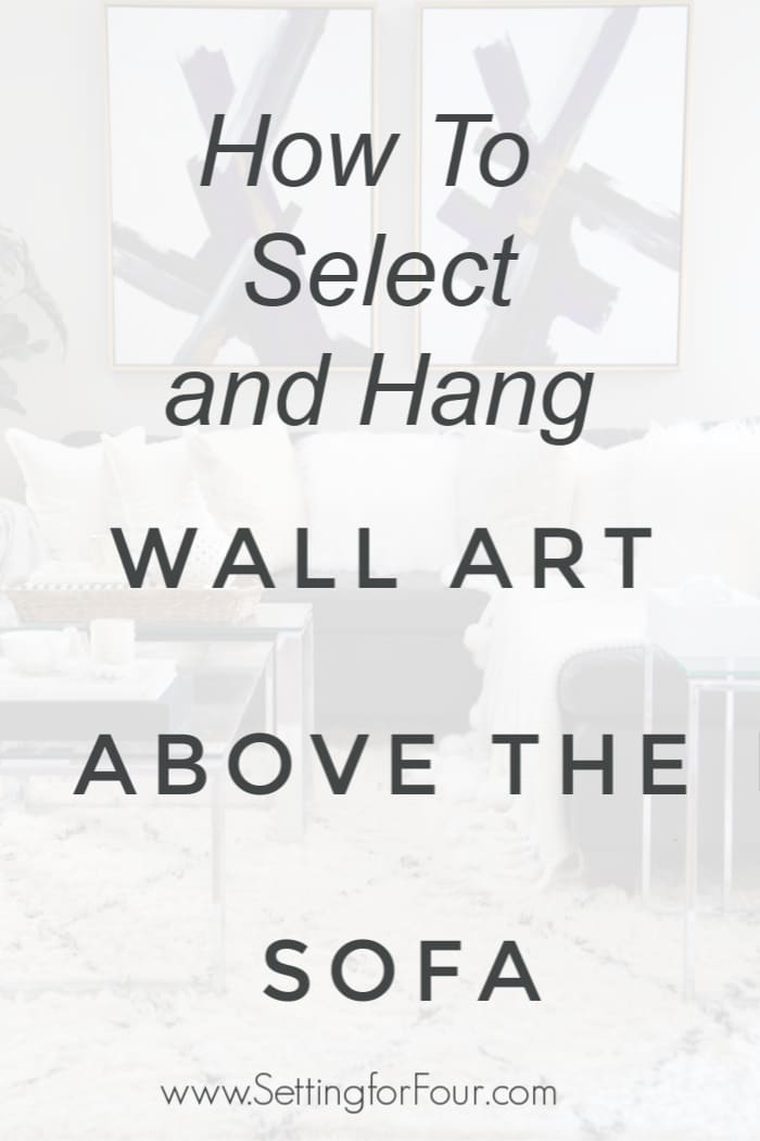 How To Select and Hang Wall Art Above The Sofa. Decorating Tips and Measurement Rules.