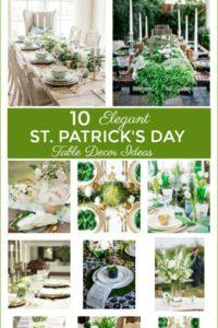 10 Elegant Saint Patricks Day Table Decor Ideas