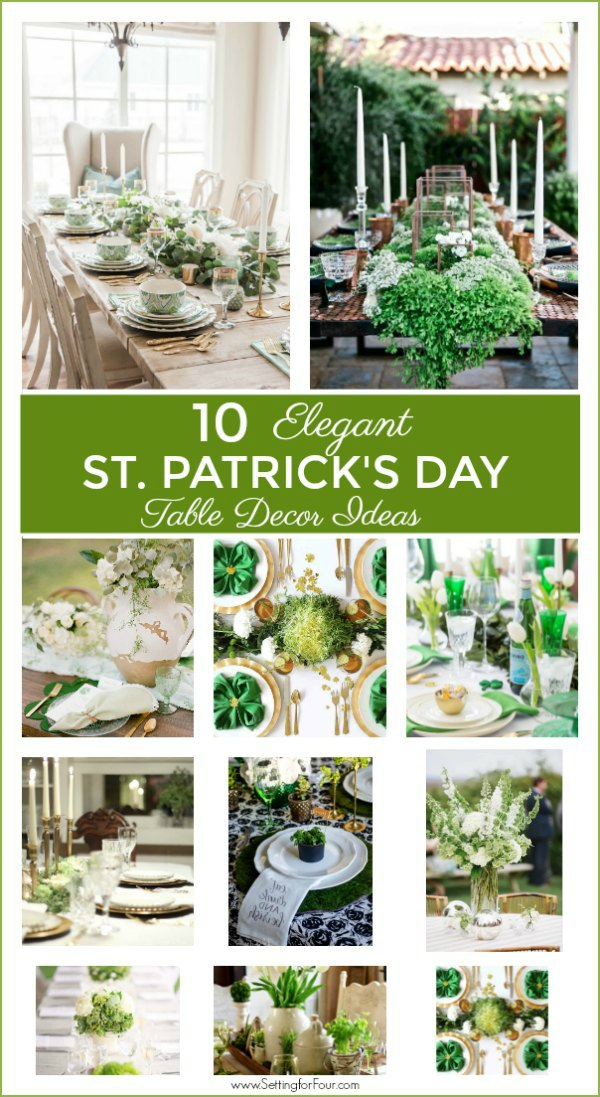 10 Elegant St Patricks Day Table Decor Ideas!