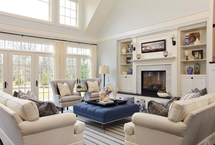 How to Arrange Furniture - Two Sofas and Two Chairs In An Open Concept Living Room