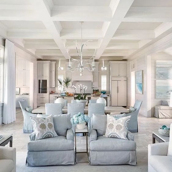 How To Arrange Furniture With An Open Concept Floor Plan Setting For Four