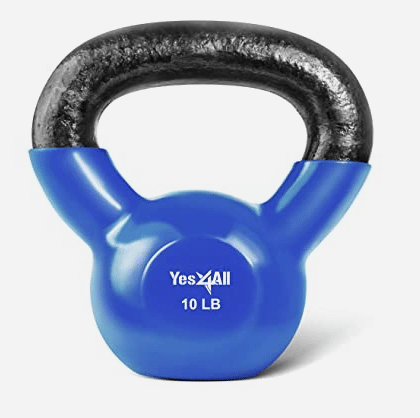 Small Space Home Gym essential equipment - Vinyl Coated Kettlebell.