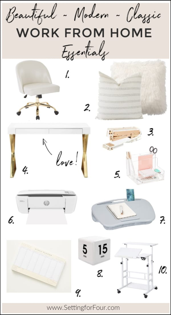 10 Beautiful, Modern, Classic Work From Home Essentials