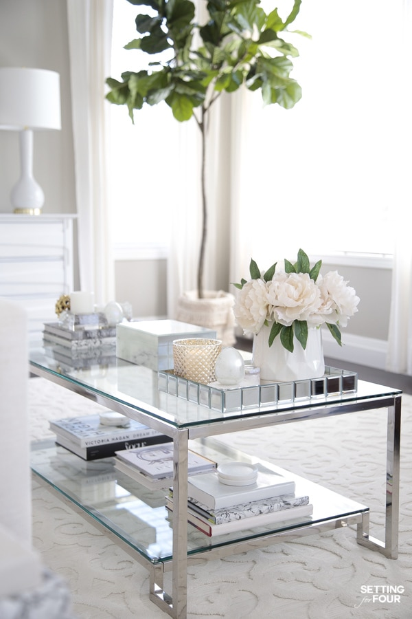 Spring coffee table styling ideas!
