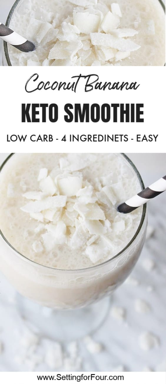 Coconut Banana Keto Smoothie Recipe With Almond Milk – 4 Ingredients
