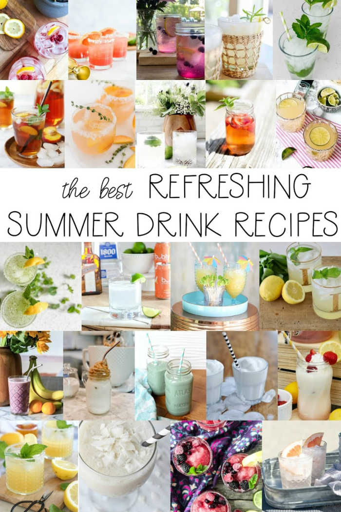 Best easy drink recipes for summer alcoholic and nonalcoholic versions!