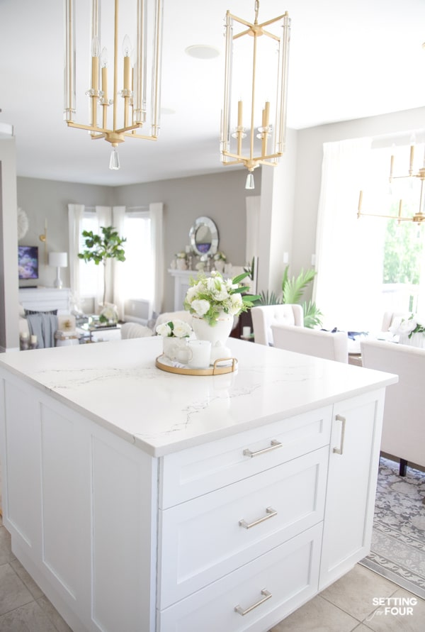 Summer Home Tour 2020 - Gorgeous Open Concept Kitchen and Living Room Decor Ideas.