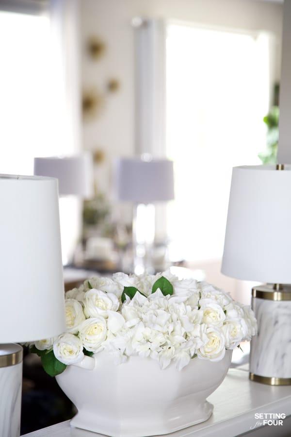 Summer Home Tour 2020 - Gorgeous Summer Floral Centerpiece Decor Ideas.