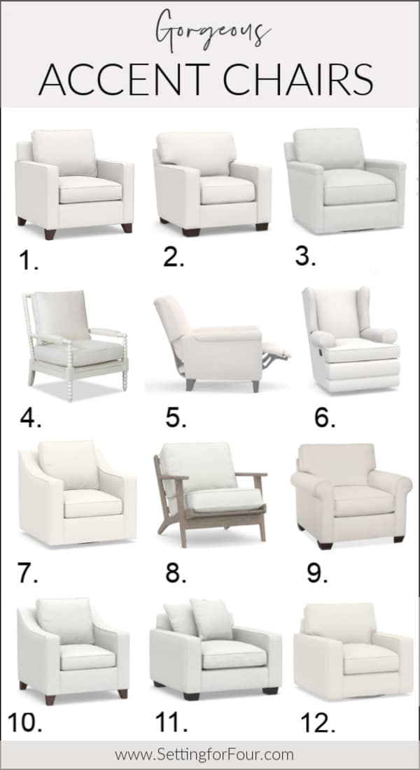 Beautiful Accent Chairs, Armchairs, Gliders, Recliners for the Living Room, Family Room, Bedroom, Nursery!