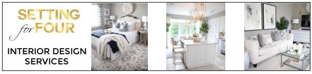 My Interior Design Services and my portfolio of decorated rooms.